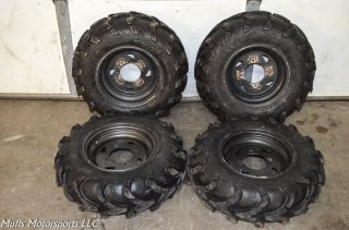 "03 Kawasaki Prairie 360 4x4 Front Rear Wheels Rims 25"" Mud Lite Tires KVF360"
