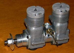 Unknown in Line Twin 60 RC Model Airplane Engine Two 2 Cylinder Motor Glow