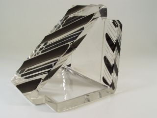 Beautiful Art Deco Bohemian Czechoslovakia Enameled Crystal Bookends