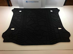 2012 2014 Jeep Wrangler Unlimited 4 Door Rubber Cargo Tray Floor Slush Mat Mopar