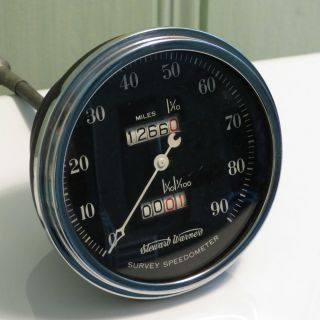 Vintage Stewart Warner Crescent Pointer Survey Speedometer Gauge for A 1932 Rod