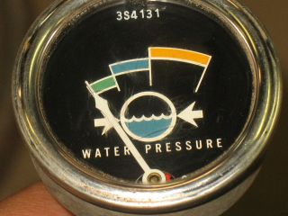 Stewart Warner Mechanical Water Pressure Gauge