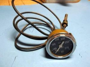 Vintage Hot Rod Drag Car Gasser Stewart Warner Oil Temperature Gauge