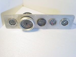 Vintage Race Car Gauge Cluster Stewart Warner Gauges Autometer Tachometer USA