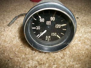Vintage Stewart Warner Air Pressure PSI Gauge 32 Ford Hot Rod Rat Rod Bagged