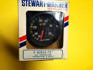 Stewart Warner 2 5 8 Oil Temp Gauge Track Force Guage Hot Rod Racing Drag