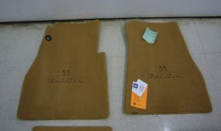 1955 57 Chevy Bel Air Custom Tan Carpet Floor Mats