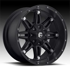 "18"" Fuel Hostage Wheels 33"" Toyo AT2 Tires 8x6 5 8 Lug Chevy GM Dodge HD Truck"