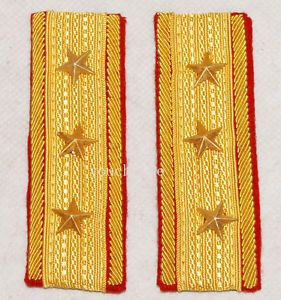 Pair WWII Imperial Japanese Army Senior General Shoulder Bullion Boards 32428