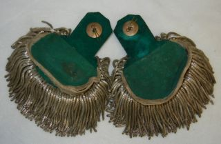 Original Pair of WW1 Imperial German Army Officer Dress Banjo Shoulder Boards
