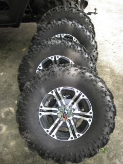 Excellent Set of 4 ATV or UTV ITP SS212 Wheels Radial Reptile Tires Polaris