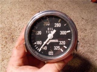 Vintage Stewart Warner Longacre Oil Temp Gauge 325 Degrees