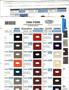 1996 Ford Lincoln Mercury Thunderbird Ford Truck Paint Chips Dupont