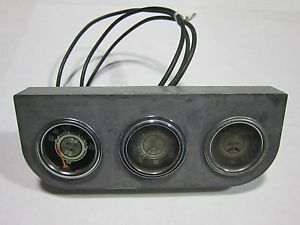 Original Eelco Vintage 3 Gauge Panel Hot Rat Rod w Stewart Warner Gauges