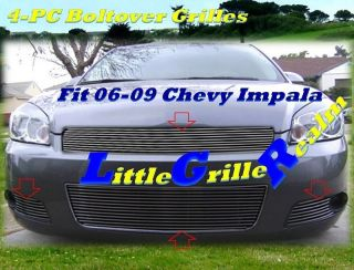 06 07 08 09 2006 2007 2008 2009 Chevy Impala Billet Grille Combo