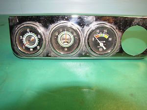 Vintage Stewart Warner Green Line Gauge Set with Under Dash Mount