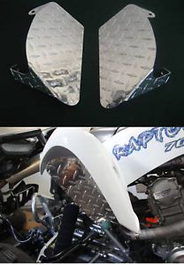 Yamaha Raptor 700 ATV Polished Aluminum Diamond Plate Engine Air Scoops Shrouds