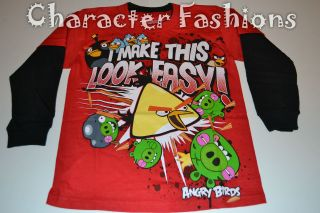 Angry Birds Long Sleeve Shirt Tee Size 4 5 6 7 I Make This Look Easy