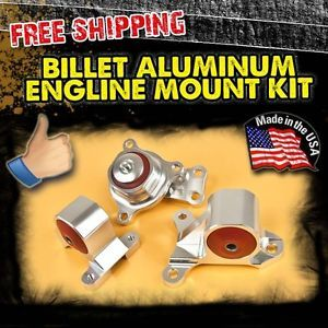 Billet Aluminum Engine Motor Mount Kit EP3 SI DC5 Base Type S