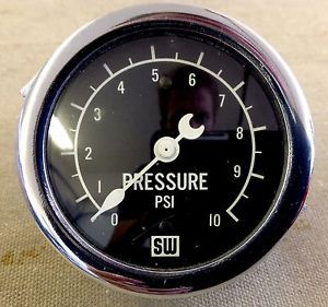 In The Box Vintage Stewart Warner Crescent Pointer Fuel Pressure Gauge Scta