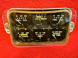 Stewart Warner 6 Instrument Cluster Gauges