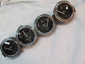 "Vintage Stewart Warner ""Wings"" Original Gauges 2 1 8 Curved Glass 6 Volt"