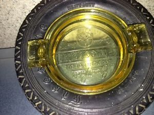 Vintage Firestone Tire Ashtray 1936 Great Lakes Exposition Cleveland Ohio