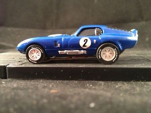 Tjet Blue 1965 Shelby Cobra Daytona GT Coupe 65 Ford Firestone Tire Thunderjet
