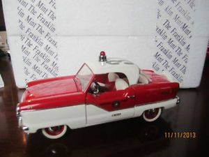 Franklin Mint Precision 1956 Nash Metropolitan Fire Chiefs 1 24 Diecast Car