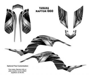 Yamaha Raptor 660 ATV Graphics Decal Kit 7777METAL