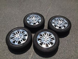 "Ford F150 Platinum 20"" Wheels Tires w TPMS All Accessories Ready to Roll"