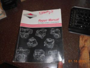Briggs Stratton Single Cylinder 4 Cycle Engine Repair Manual 270962