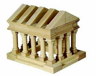 Guidecraft G6104 Kids Wood Building Greek Block Set Wooden Blocks Toys New