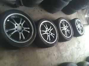 "Falken 18"" Wheels Tires 5 Lug 4 53 inch 5x115mm Rims and Tires"