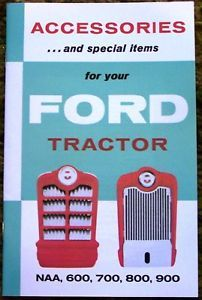 1953 1962 Ford Tractor Accessories Brochure NAA 600 9