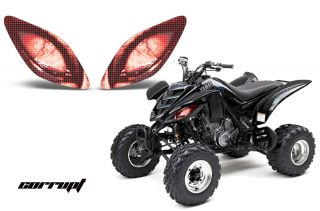 AMR Racing Head Light Graphic Decal Cover Yamaha Raptor 660 ATV Parts Corrupt