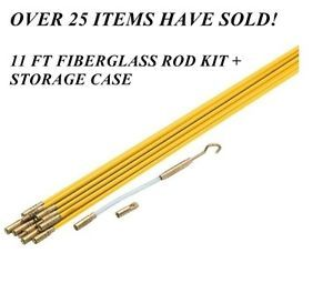 Fish Rod Hook Kit Fiberglass Wire Running Kit Phone Cable Wire DSL Cable New