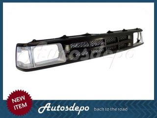 86 89 Mazda B2000 B2200 B2600 Front Bumper Center Bar Black Grille w Mold Hole