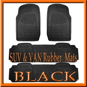 4 Pcs Dodge Journey Heavy Duty Black Rubber Floor Mats Full Set