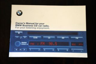 BMW Business CD Player Radio Stereo Blaupunkt CD43 Original Owner's Manual Book
