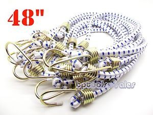 "20 48"" Heavy Duty Hook Bungee Cords 48 inch Long Bungee Thick Tie Down Bungees"