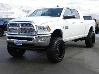 Dodge RAM Mega Cab Laramie 4x4 Cummins Diesel Custom New Lift Wheels Tires Nav