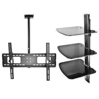 Wall Mount Lot 3 Tier DVD Cable Game Console Ceiling TV Mount LCD LED