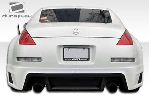 03 08 Nissan 350Z R35 Duraflex Rear Body Kit Bumper