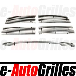09 12 Dodge RAM 1500 Chrome 4mm Billet Grille Upper Bumper w O Tow Hook Combo