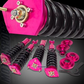 350Z Z33 G35 Racing Street Damper coilover lowering Spring Suspension Red Kits