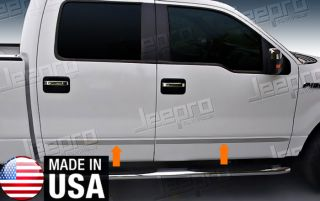 09 2013 Ford F150 Crew Cab Body Side Molding 1 1 2'' Wide 4pc