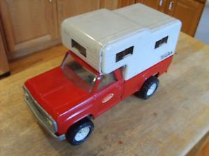 Red Dodge Tonka 70's camper Truck in Very Nice Shape Complete Parts