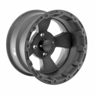 "Summit Racing 161 ATV Series Matte Black Bruiser Wheel 14""x8"" 4x110mm"