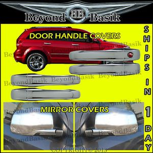 2009 2013 Dodge Journey Chrome Mirror Covers Chrome Door Handle Covers
